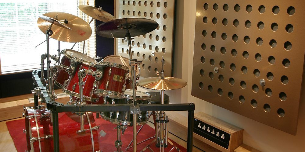 Drum Booth at Ten21 Recording Studio